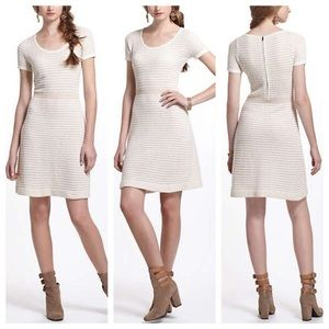 Sparrow gilt grid sweater dress cream sz medium